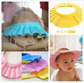 Útil Baby Shower Cap Crianças Shampoo Wash Escudo Cabelo Hat Soft & Ajustável
