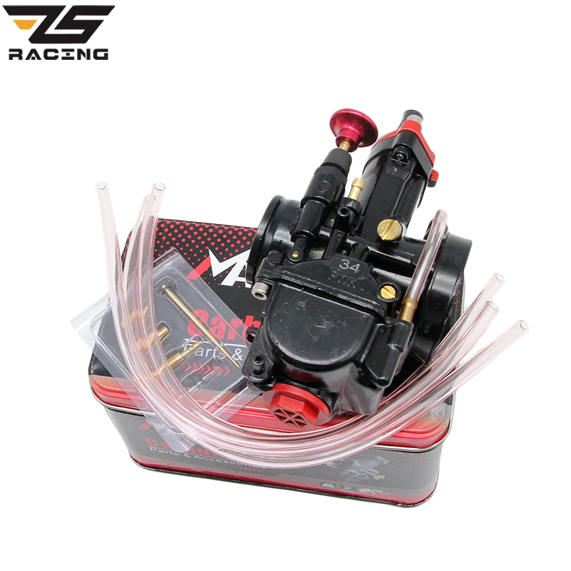 ZS Racing High quality Motorcycle 28 30 32 34 mm Carburador Mikuni Universal Carburetor Parts Scooters