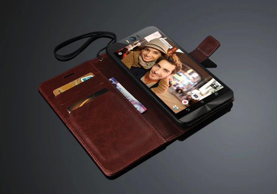 Capa Zenfone Selfie pemegang kartu penutup kasus Untuk ASUS Zenfone - Aksesori dan suku cadang ponsel - Foto 6