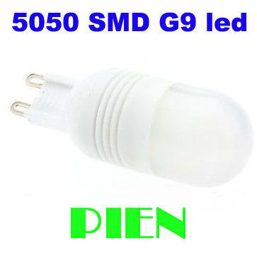 COB SMD LED Bulb G9 5050 6 LED 2W Corn Light Home Lamp 220V Cool|Warm White 360 degree High Power Free Shipping 5pcs/lot