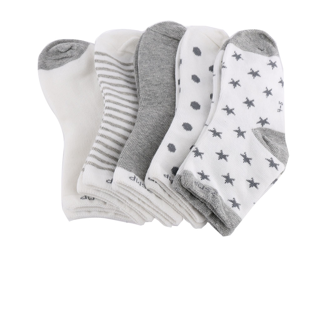 5 pairs/set spring/autumn/winter   sock   90% cotton baby   socks   set newborn infant toddler floor No bone for 0-10years promoted