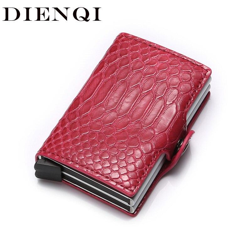 Anti Rfid Men Women Id Credit Card Holder Case Wallet Metal Aluminum Business Bank Creditcard Cardholder Protection Pashouder