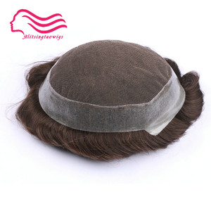 Image 5 - 100% human  remy hair men toupee , Australia brand, french lace with skin around .  hair replacement,hair   men toupee in stock