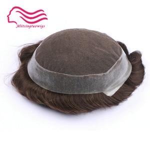 Image 5 - 100% 인간 remy 머리 남자 toupee, 호주 상표, 주변에 피부를 가진 프랑스 레이스. 머리 보충, 주식에 있는 머리 남자 toupee