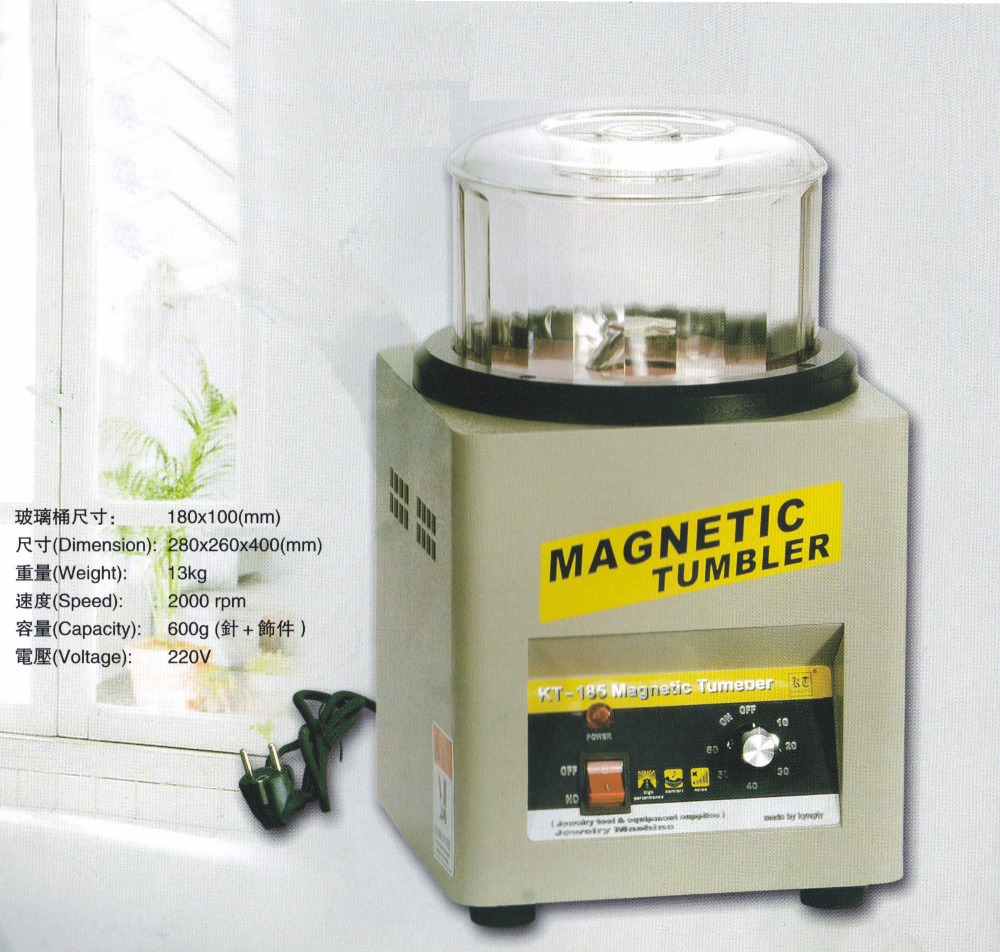 KT-185 Magnetic Tumbler 13cm, Jewelry rotary Polisher & Finisher, Super Finishing rock motor brand new magnetic tumbler 130mm jewelry polisher