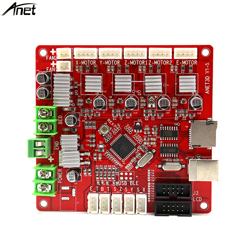 Anet 3D Printer Control Motherboard Main Board for Anet V1.5 Printer Control Reprap i3 Mendel for A8 printer anet update version controller board mother board mainboard control switch for anet a6 a8 3d desktop printer reprap prusa i3