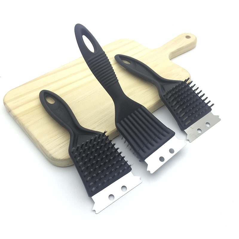 Deep Clean Kitchen: BBQ Grill Cleaning Cleaner Brush Stainless Steel Scraper