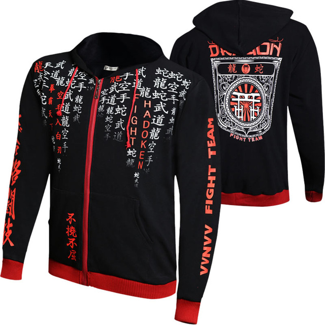 MMA tops black Trainning & Exercise Sweaters 061 Hoodie