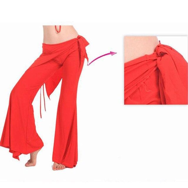 2016 Дешевые Tribal Belly Dance Брюки Красный для Женщин Танцы брюки 12 Цветов