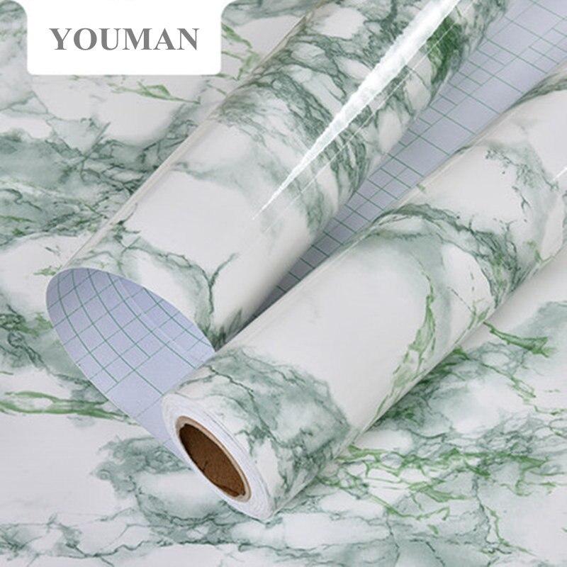 ᗜ Ljഃ5 m/10 m mármol papel pintado impermeable PVC auto-adhesivo ...