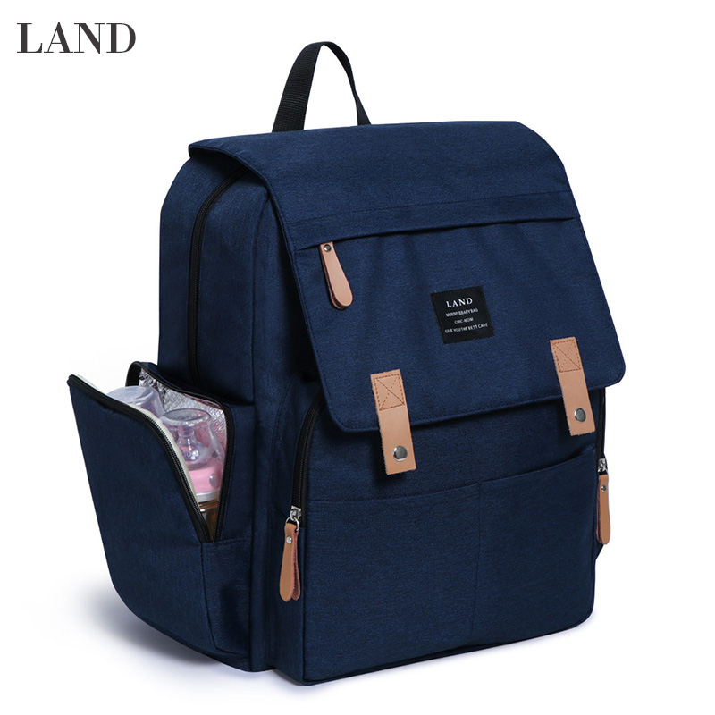 LAND Diaper Bag Backpack Large Capacity Baby Changing Bag with Insulated Pockets Changing Pad Waterproof Oxford Cloth Mother BagLAND Diaper Bag Backpack Large Capacity Baby Changing Bag with Insulated Pockets Changing Pad Waterproof Oxford Cloth Mother Bag