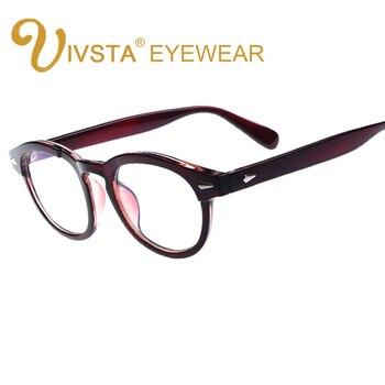 4ce274c9c6 IVSTA Immitating-PC de bambú Johnny Depp gafas montura para mujeres gafas  Vintage lentes de prescripción marco óptico 793
