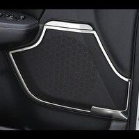 Stainless steel For Honda CR V CRV 2017 Car styling accessories Car speaker audio Horn ring frame Panel Cover Trim 4 PCS/SET