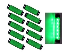 Keyecu 10PCS Lot Green White Amber Red Blue 3 8 6LED Side Marker Indicators Light Truck
