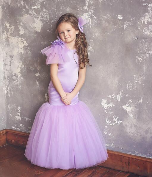 lavender mermaid prom dress