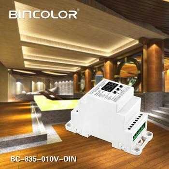 DC12V 24V 5CH Led Din Rail DMX512/1990 Signal To 0-10V Or PWM 10V 5V Signal Converter DMX512 Controller,BC-835-010V-DIN