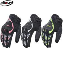 SUOMY New Motorcycle Gloves Summer Men Motorbike Half Finger Retro For Guantes Moto