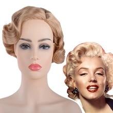 Marilyn Monroe Wig Short Curly Vintage Headwear Adult Monroe
