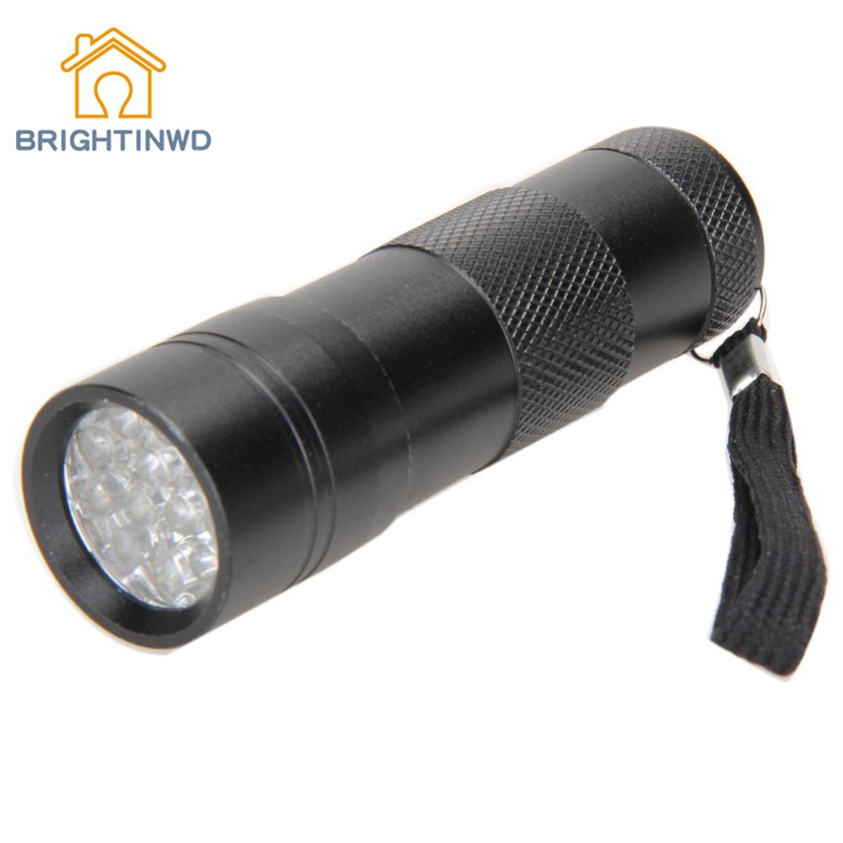 BRIGHTINWD 12 LED Mini UV Money Detector Ultra Violet Flashlight Torch Light Lamp ...