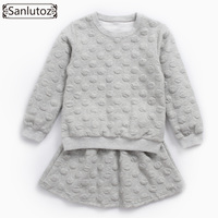 Sanlutoz Girls Clothing Set Toddler Long Sleeve Girl Clothes Winter Kids Clothes Brand Autumn Sport Suit