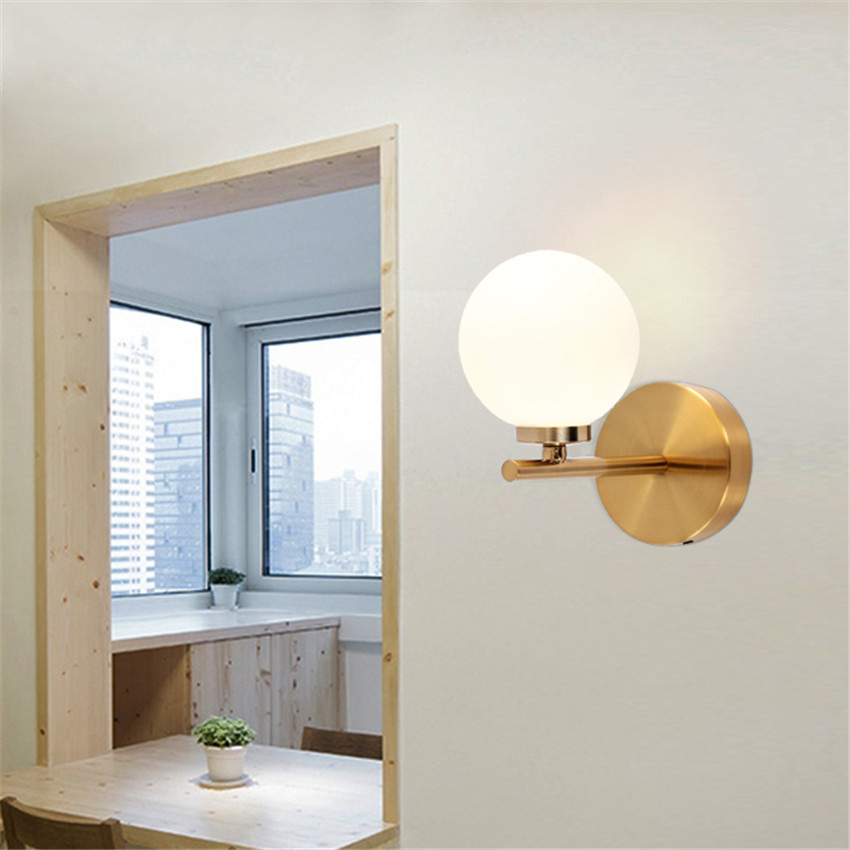Jeff Wall Light Bulb Room : Post Modern Glass Led Wall Lamp Bedroom Bedside Stair light Art dining Room light Creative Aisle ...