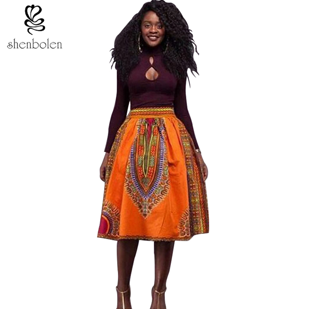 d66314a37e1ed 2016 summer dresses for women african clothing dashiki skirt Traditional  wax cloth wax print batik pure cotton Plus Size S 4XL-in Africa Clothing  from ...