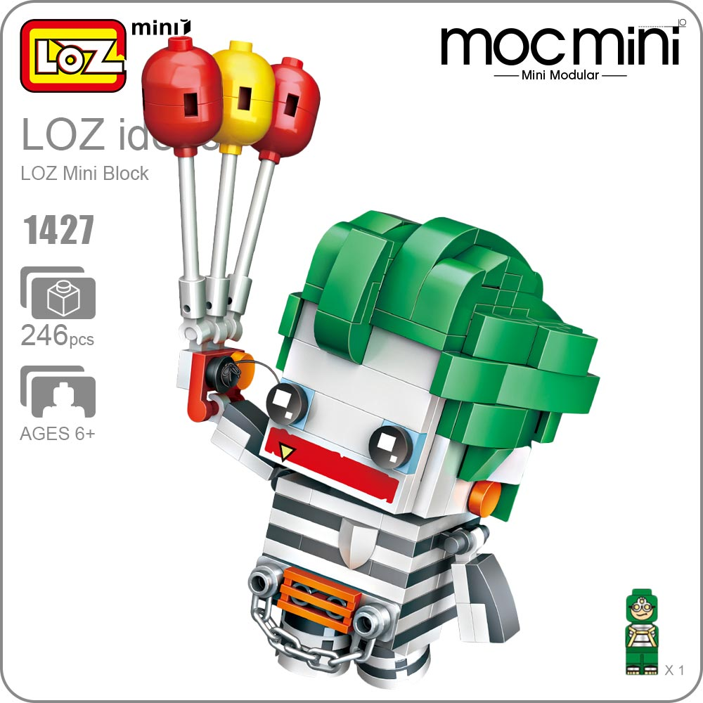LOZ Mini Blocks Figure Action Assembly Model Building Blocks Figures Cartoon Toys Clown DIY Balloon Character Figurine DIY 1427 loz diamond blocks dans blocks iblock fun building bricks movie alien figure action toys for children assembly model 9461 9462