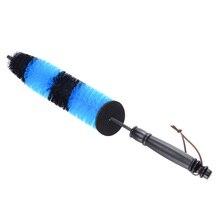 Escova para lavagem de rodas automotivas, escova azul para lavagem do motor, caminhão, rodas, ferramenta de limpeza de aro de pneus, 1 peça