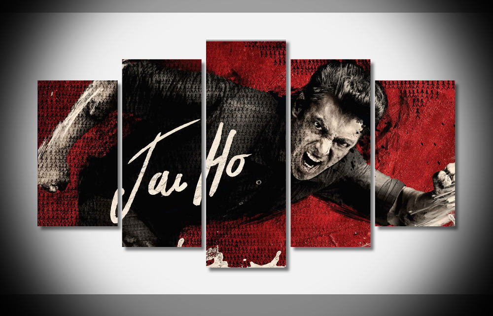 5305 Salman Khan In Jai Ho Movie Poster Framed Gallery wrap art print home wall decor wall picture Already to hang digital
