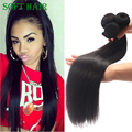 "7A Pelo Indio crudo 300 g/lote Stright Seda Natural Negro Remy Extensión Del Pelo Barato Virgin Hair Bundle Ofertas 8 ~ 28 ""Pelo suave"