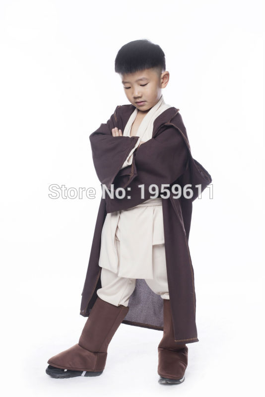 STAR WARS Robe Jedi/Sith Cosplay Children Hooded Cape Cloak Classic Halloween Costumes two colors For Pick