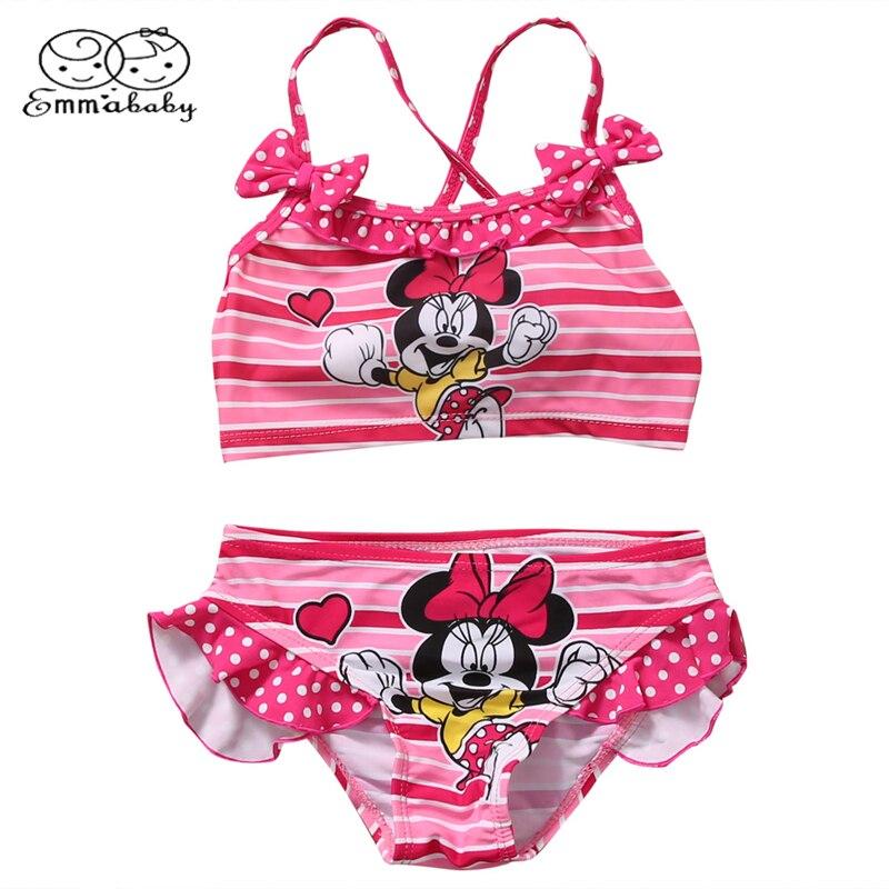 Emmababy Toddler Kids Swimming Customes Baby Girls Tankini Bikini 2pcs!! Set Swimwear Summer Beach Cute Swimsuit Bathing Suit