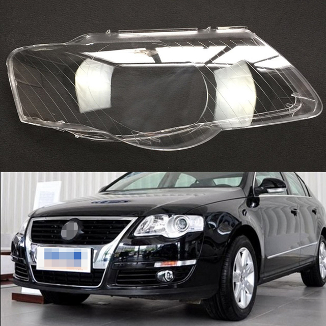 Car Headlight Headlamp Clear Lens Cover For Volkswagen VW Passat B6 2006 – 2011