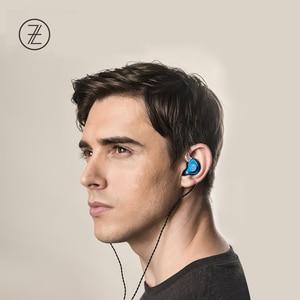 Image 5 - 2019 את ריחני ציתר TFZ T2 שלב אוזניות 2Pin מתכת לוחית HIFI צג IEM 3.5mm באוזן ספורט מוסיקה דינמי DJ Earbud