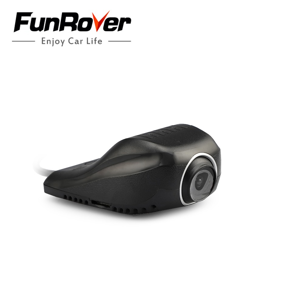2018 Dash Camera Funrover Dashcam Cámara frontal Usb Dvr Android Reproductor de DVD Usb2.0 Grabadora de video digital para Android 5.1 6.0 8.0