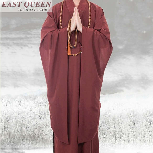 07301ea1e8 Shao lin plus size zen buddhist monk robe buddihst monk clothing monk  outfit traditional chinese clothing robe gown FF647 A