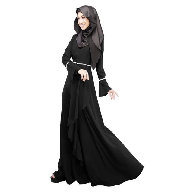 Abaya Jilbab Caftán Islámico Del Vestido Maxi de La Manera Maxi Partido Vestido de Noche