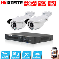 4CH 1080N HDMI DVR 1200TVL 720P HD Outdoor Security Camera System Nightvision 4 Channel CCTV