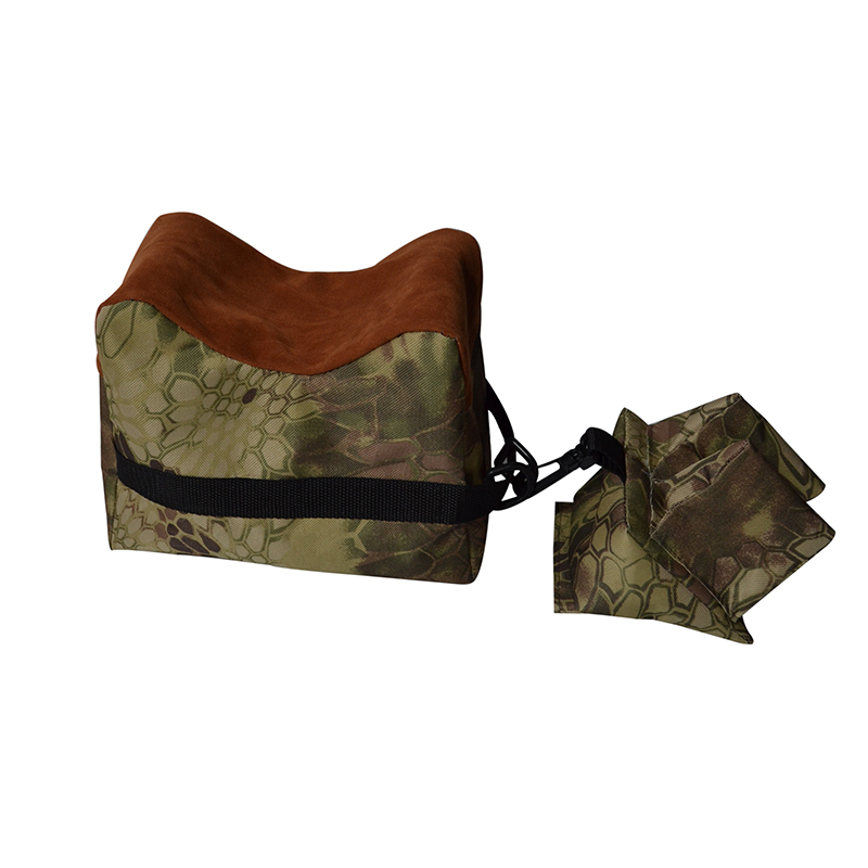 Portable Front & Rear Rifle Target Hunting Bench Camouflage Shooting Rear Gun Rest Bag Set Unfilled Stand P15