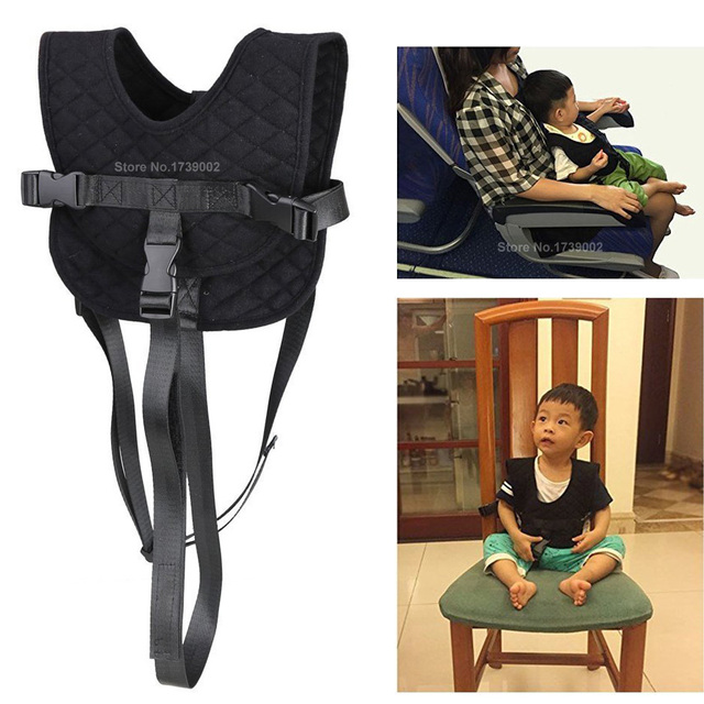 Baby Infant Airplane Flight Travel Harness Strap Portable Kids Chair Seat  Belt Shopping Cart Safety Vest