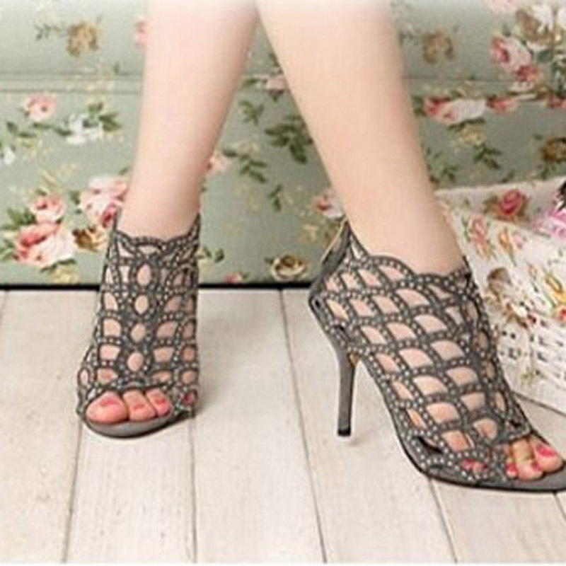 Sexy Summer Sandals Peep Toe High Heeled Leather Sandals Wedding Events Shoes  Bridal Dress Shoes Hallow Beaded Shoes In Womenu0027s Sandals From Shoes On ...