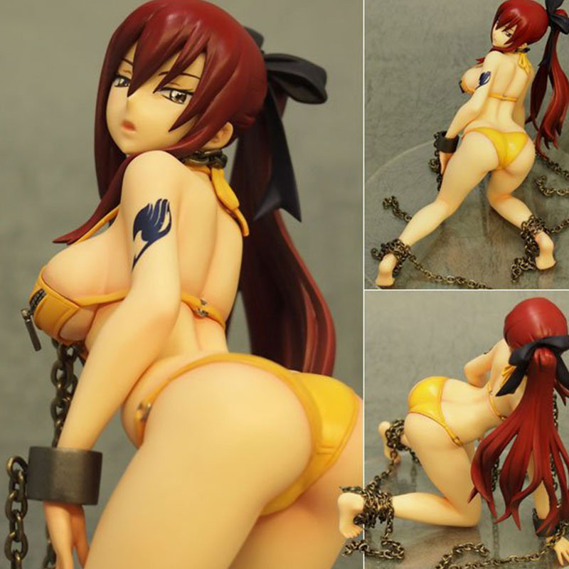 Japanese Anime XPlus Fairy Tail Erza Scarlet Swimsuit Ver. 1/8 PVC Action Figure Sexy Adult Collictible Model For Adult Toys fairy tail 35