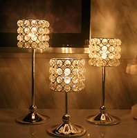 Crystal Table Candle Holder Fashion Wedding Home Or Bar Candle sticks
