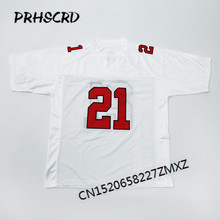 9fb2ee0b3 Retro star #21 Deion Sanders Embroidered Throwback Football Jersey(China)