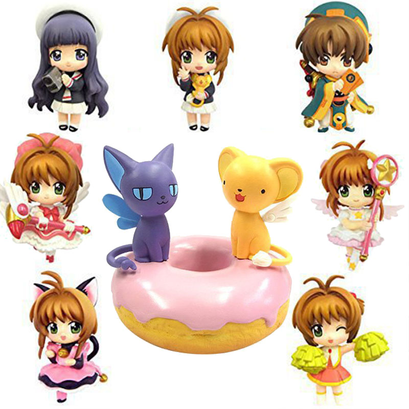 Electronic Toys Learned Hot 5-7cmnakayoshi Magic Kinomoto Sakura Action Figure Toy Collection Love Girl Cartoon Movie Anime Children Gift Electronic Pet