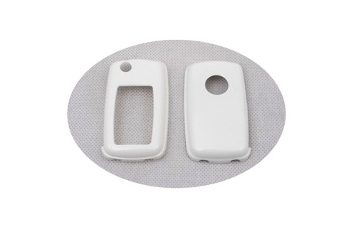 Жесткий Пластик без ключа дистанционного защиты Чехол(белый глянец) для Фольксваген MK4/MK5