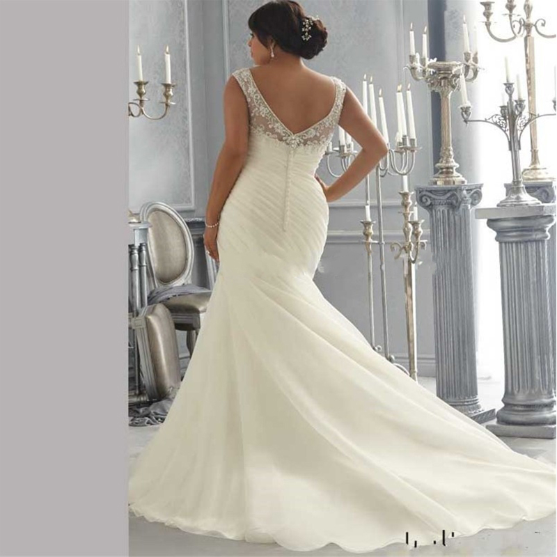 52e7b9cd986e Mermaid Wedding Gown Design Distintivo Taglie forti Abiti Da Sposa Scoop  Rilievo Di Cristallo Ricamo Organza Abito Da Sposa in Mermaid Wedding Gown  Design ...
