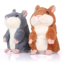 Kawaii Animal Hamster Recorder Talking Hamster Plush Toy Cute Copy Voice Pet Taking Mouse Toy 13cm