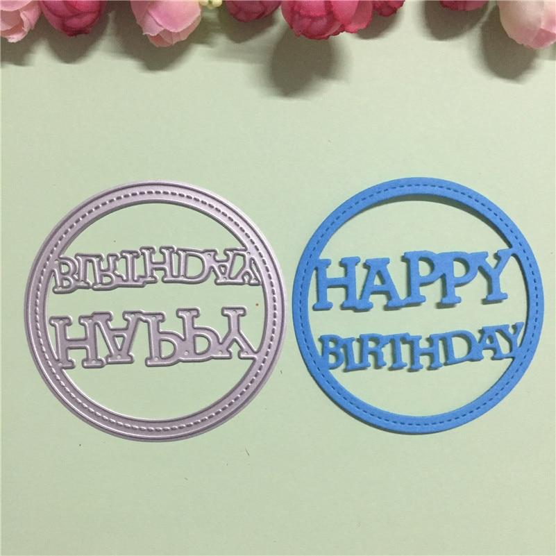 letter design happy birthday metal cutting dies stencils for diy scrapbookingphoto album