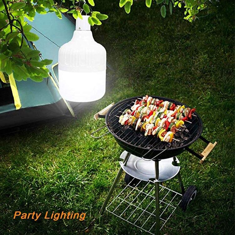 Portable LED ampoule de nuit Rechargeable Dimmable lumières de secours en plein air jardin Camping suspendu lumière LED 40W 80W 100W 150W